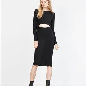 Zara Bodycon Ottoman Rib Dress NWT